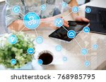 automation concept as an... | Shutterstock . vector #768985795