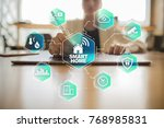 smart home automation concept...   Shutterstock . vector #768985831