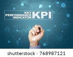 kpi. key performance indicator. ... | Shutterstock . vector #768987121