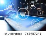 e commerce. internet shopping.... | Shutterstock . vector #768987241