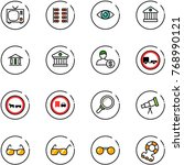 line vector icon set   tv... | Shutterstock .eps vector #768990121