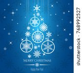 vector christmas tree from ... | Shutterstock .eps vector #768992527