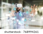 smart industry and automation... | Shutterstock . vector #768994261