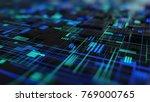 abstract high tech digital... | Shutterstock . vector #769000765