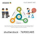 strategy concept slide template | Shutterstock .eps vector #769001485