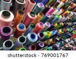 textile industry with knitting... | Shutterstock . vector #769001767