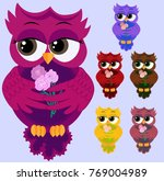 a set of colorful coquettish co ... | Shutterstock . vector #769004989