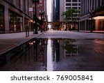 an empty street in downtown...   Shutterstock . vector #769005841