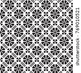 geometric black and white... | Shutterstock .eps vector #769010521
