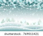 new year and merry christmas... | Shutterstock .eps vector #769011421