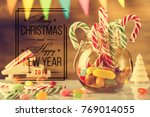greeting card  ready to print.... | Shutterstock . vector #769014055