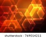 abstract hexagon background.... | Shutterstock .eps vector #769014211