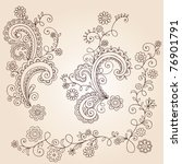 hand drawn abstract henna... | Shutterstock .eps vector #76901791