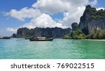 railay bay and beach 2017  ... | Shutterstock . vector #769022515