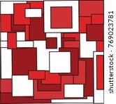 seamless pattern of the 2d... | Shutterstock .eps vector #769023781