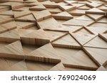 wood triangular abstract... | Shutterstock . vector #769024069