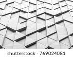 white triangular abstract... | Shutterstock . vector #769024081