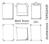 hand drawn cartoon vector set... | Shutterstock .eps vector #769026439