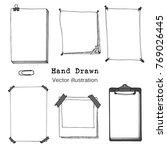 hand drawn cartoon vector set... | Shutterstock .eps vector #769026445