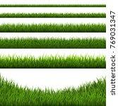 grass border set | Shutterstock . vector #769031347