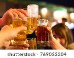 party  holidays  celebration ... | Shutterstock . vector #769033204