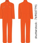 orange working uniform. vector... | Shutterstock .eps vector #769037791