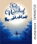 feliz navidad translation from... | Shutterstock .eps vector #769040725