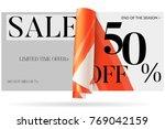 sale advertisement banner on... | Shutterstock .eps vector #769042159