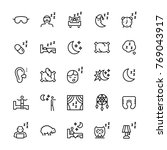 vector icon set of sleep in... | Shutterstock .eps vector #769043917