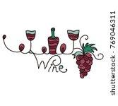 wine. vector illustration. | Shutterstock .eps vector #769046311