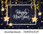 happy new year inscription with ... | Shutterstock .eps vector #769051519