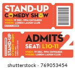 stand up comedy show entry... | Shutterstock .eps vector #769053454