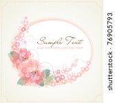 flower frame | Shutterstock .eps vector #76905793