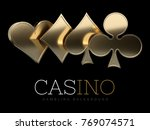 casino poker card suits.... | Shutterstock . vector #769074571