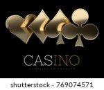 casino poker card suits....   Shutterstock . vector #769074571