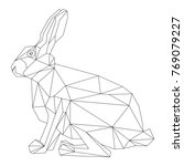 vector   animal  hare geometric ... | Shutterstock .eps vector #769079227