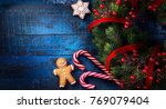 christmas holidays ornament at... | Shutterstock . vector #769079404