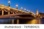 panoramic view of the pont... | Shutterstock . vector #769080421