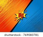 comics fight background. versus ... | Shutterstock .eps vector #769083781