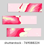 abstract banner template with... | Shutterstock .eps vector #769088224