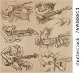 an hand drawn vector pack of... | Shutterstock .eps vector #769088851