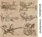 an hand drawn vector pack of...   Shutterstock .eps vector #769089109