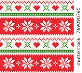 merry christmas wool knitted... | Shutterstock . vector #769090765
