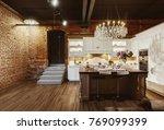 modern kitchen with luxury... | Shutterstock . vector #769099399