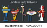 christmas party signboards. mid ... | Shutterstock .eps vector #769100044