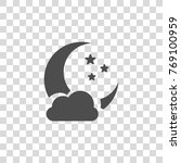 moon with stars vector icon | Shutterstock .eps vector #769100959