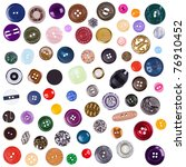 the big set of various buttons... | Shutterstock . vector #76910452
