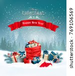 christmas holiday background... | Shutterstock .eps vector #769106569