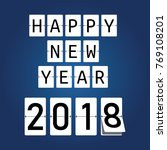 happy new year 2018. mechanical ... | Shutterstock .eps vector #769108201