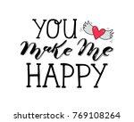 hand sketched lettering... | Shutterstock .eps vector #769108264
